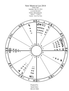 New Moon in Leo 2014