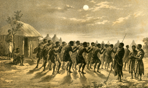 reed dance in moonlight
