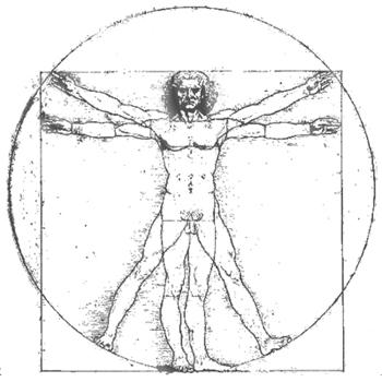 man in a circle