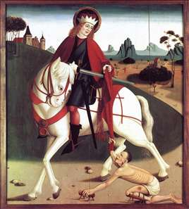 St Martin and the begger