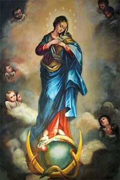 virgin with snake and crescent