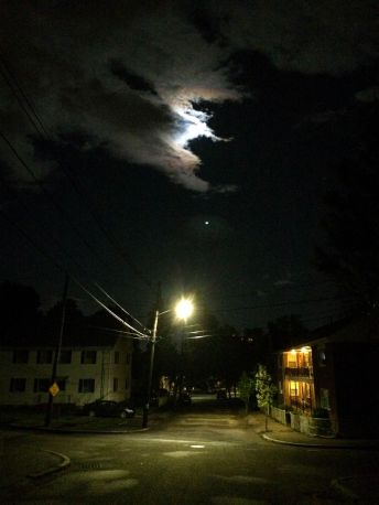 moon-and-street-light