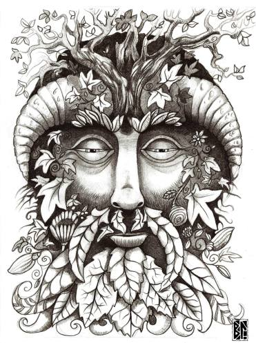 green man drawing BL