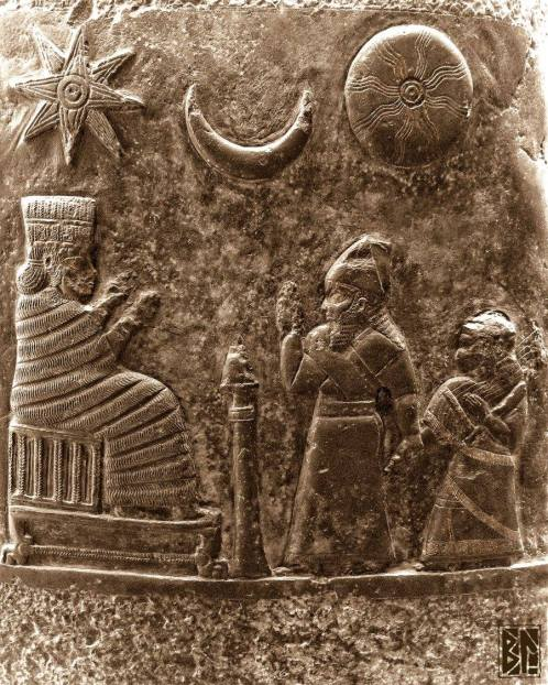 bas relief king musician and stars BL
