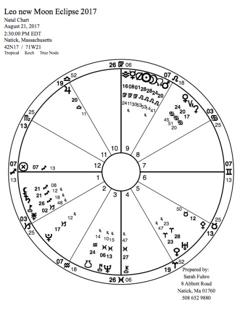 New Moon in Leo Eclipse 2017