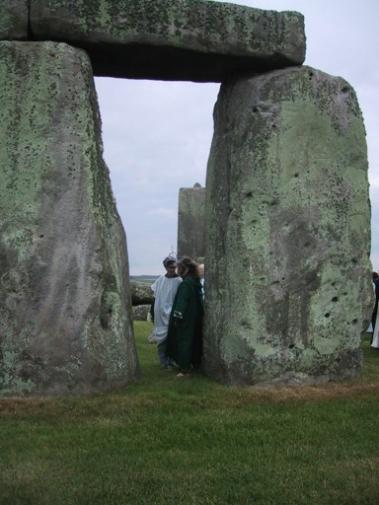 standing in Stonehenge