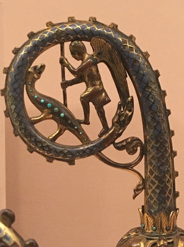Crozier with angel and dragon