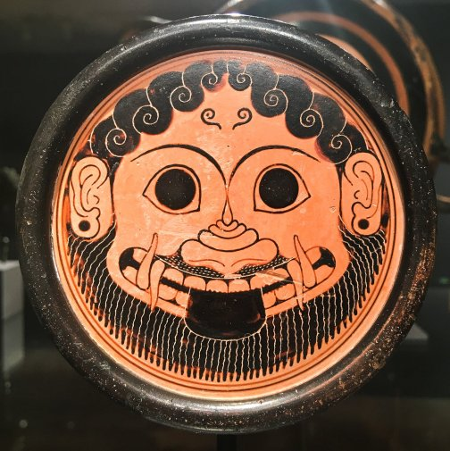 tongue out greek plate