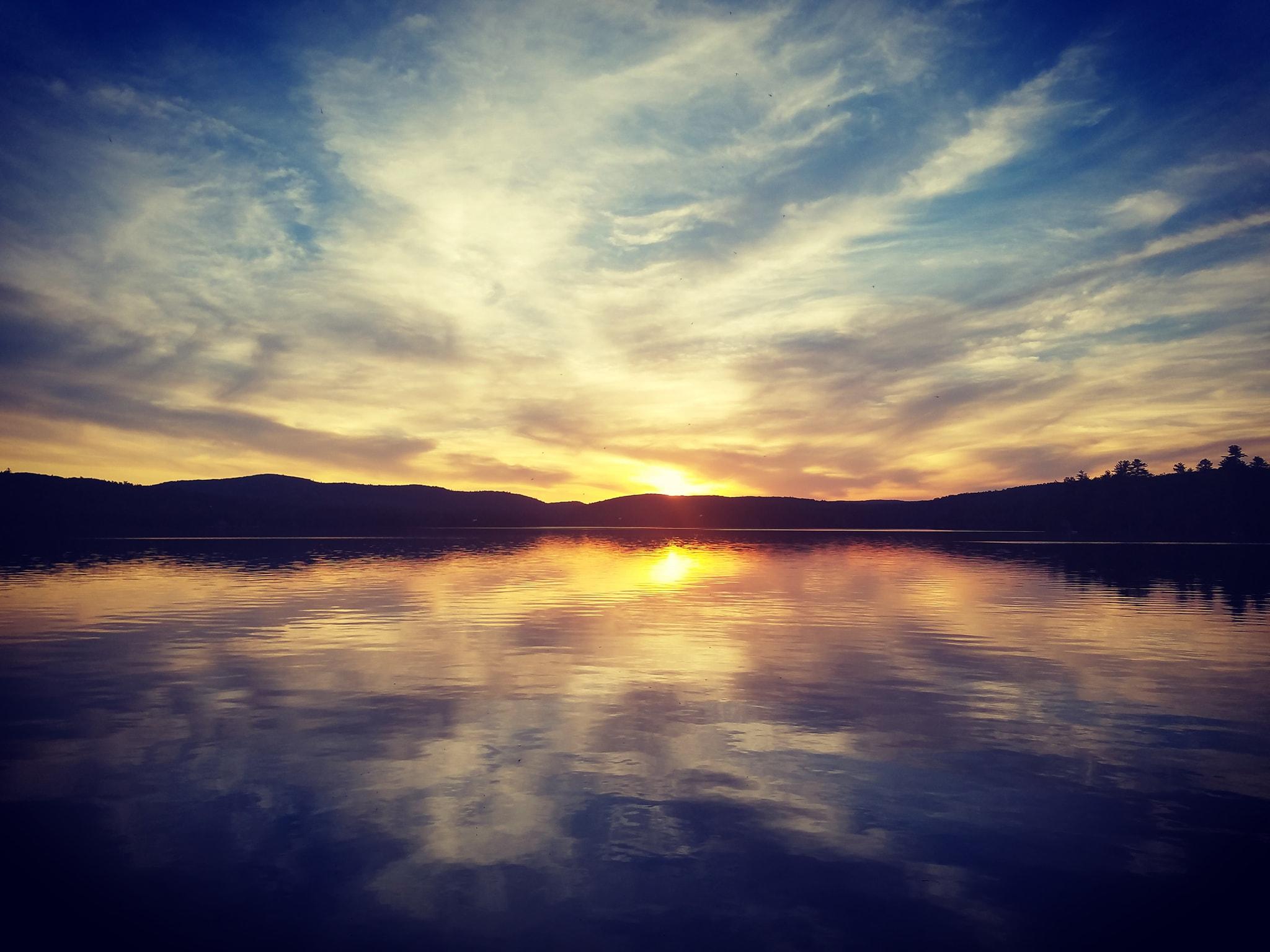 Aaaron sunset lake photo