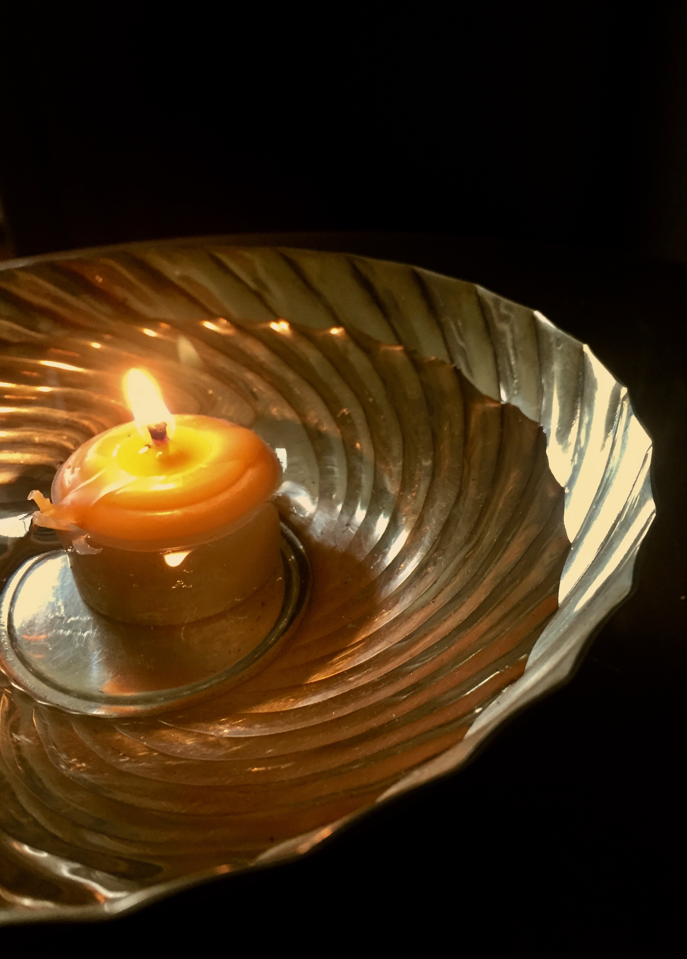 Candle in bowl