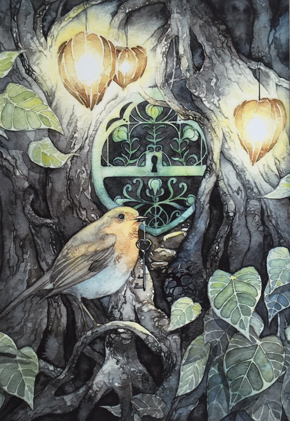AL with bird and Key