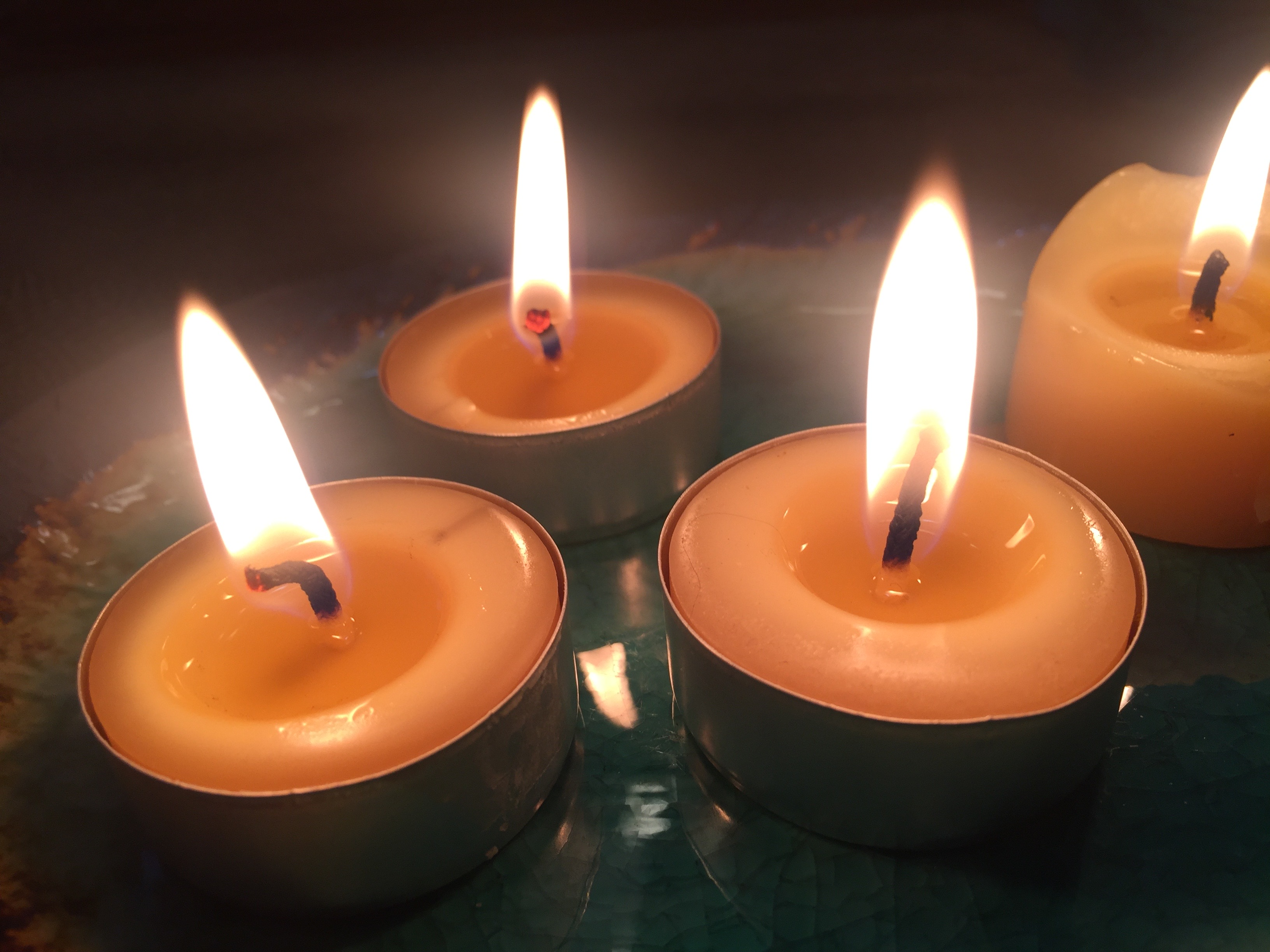 Four candles for Bride